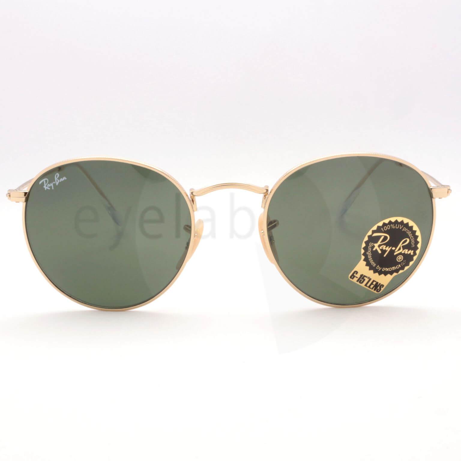 79d7831828 Γυαλιά ηλίου Ray-Ban 3447 Round Metal 001 ~ Eyelab
