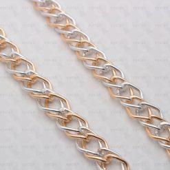 Μεταλλική αλυσίδα για γυαλιά με διπλούς κρίκους χρυσό ασημένιο χρώμα